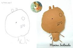 Menina Inclinada makes custom toys from children's drawings :)