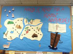 pirate bulletin board to encourage reading in school library
