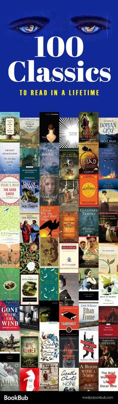Reading Challenge: 100 Classics to Read in a Lifetime Looking for some classic book list with some of the best literature? Check out these classics for women, for teens, for kids, and more. Book Nerd, Book Club Books, Good Books, Books To Read, My Books, Book Suggestions, Book Recommendations, Reading Lists, Book Lists