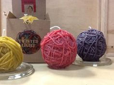 These yarn ball shaped candles from TWISTED LIGHT make the perfect gift for any knitter or crocheter who already has everything. Would you get one?