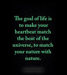 The goal of life is to make your heartbeat match the beat of the universe, to match your nature with nature. Sky Quotes, Post Quotes, Nature Quotes, Love Quotes Photos, This Is Us Quotes, Best Love Quotes, Motivational Quotes, Inspirational Quotes, Quotes About Everything
