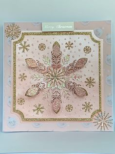 Excited to share this item from my shop: Luxury Handmade Christmas Card, Card, Large Pink Snowflake Card, Rose Gold Personalised Card Luxury Christmas Cards, Homemade Christmas Cards, Gold Christmas, Handmade Christmas, Valentine Messages, Valentine Box, Exploding Box Card, Christmas Sentiments, Pop Up Box Cards