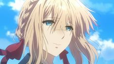 Animated gif about cute in Violet Evergarden by Naho Film Anime, Sad Anime, Anime Art, Anime Crying, Violet Evergreen, Violet Evergarden Anime, Fanart, Kyoto Animation, Best Waifu