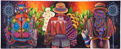 Colorful Guatemalan painting