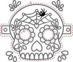 Bildergebnis für day of dead printable masks