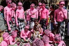 Week of Jun 21-27, 2014 Young villagers, with their bodies painted, gather at Duur Bingin temple before walking around their village during the Grebeg Ritual on Wednesday in Bali, Indonesia. Putu Sayoga/Getty Images
