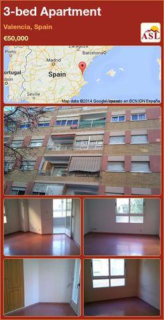 3-bed Apartment in Valencia, Spain ►€50,000 #PropertyForSaleInSpain