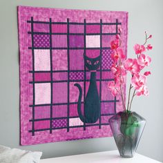 """That Cat"" by Pamela Lincoln,  in the August/September 2015 issue of McCall's Quick Quilts"