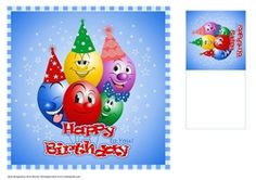 Happy birthday Balloons by Eliza Brown A large card with happy balloons wishing you a Happy Birthday. Comes with a matching gift tag. Christmas Scenes, Christmas Deer, Christmas Ornaments, Happy Balloons, Happy Birthday Balloons, Sewing Circles, Matching Gifts, Pink Blossom, Cool Cards