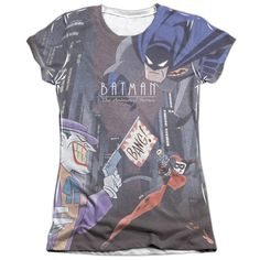Batman The Animated Series/Bounce Short Sleeve Junior 65/35 Poly/ Crew in, Girl's