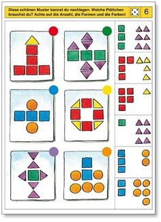 Piccolo: dobbelsteen kaart 6: Toddler Learning Activities, Preschool Activities, Visual Perceptual Activities, File Folder Activities, Autism Classroom, Literacy Skills, School Themes, Preschool Math, Worksheets