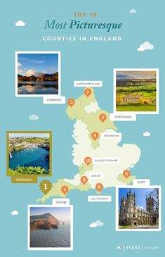 See the counties which were voted the top 10 most picturesque counties in England. We'll give you a hint, Cornwall nabbed the top spot!