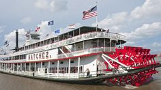 Steamboat Natchez, the last authentic steamboat on the Mississippi River. Board it near the French Market in New Orleans. Daily jazz cruises recreate the grandeur of times past with a slow chug down the river. The Crescent City's skyline never looked so good.