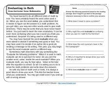 3rd grade Math Worksheets: 2 pairs of feet | Reading worksheets ...