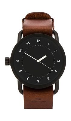 TID Watches No. 1 + Leather Wristband in Black & Tan | REVOLVE