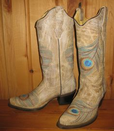 Rivertrail Mercantile - Corral Bone Feather Boots R1110, $258.00 (http://www.rivertrailmercantile.com/corral-bone-feather-boots-r1110/)