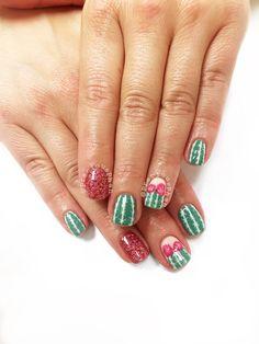 Cactus nails. Arizona nails. Desert. #PreciousPhan