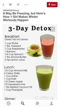 Lemon Ginger Detox Water, Lemon Water, Almond Butter, Almond Milk, 3 Day Detox, Detox Breakfast, Raspberry, Frozen, Banana