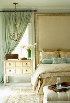 yatak odasında nane yeşili