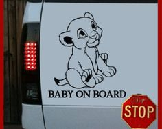 Disney Lion King Inspired Baby on Board Sticker Decal Any Color Good Shower Gift for Mom and Dad Lion King Nursery, Lion King Theme, Lion King Baby Shower, Twin Boys, Twin Babies, Baby Twins, Boy And Girl Drawing, Baby Simba, Baby Cubs