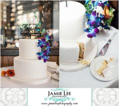 The Turtle Club | Naples Wedding Photographer | Jamie Lee Photography | Intimate Dinner Reception | Kakes by Karen | Custom Cake Topper | Christie's Flowers and Gifts