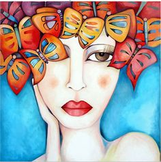 Art Cordobes Baraka Art in Cordoba, Cordoba Interview with Artist… Mixed Media Faces, Mixed Media Art, Illustrations, Illustration Art, Wal Art, Fabian Perez, Henri Rousseau, Colorful Paintings, Naive Art