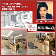 sketchup model vray 1.49 setting kitchen area_cover