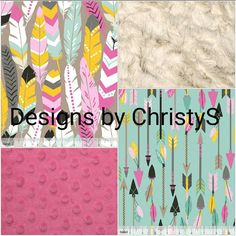 Baby Girl Crib Bedding  Luckie Arrows by DesignsbyChristyS on Etsy
