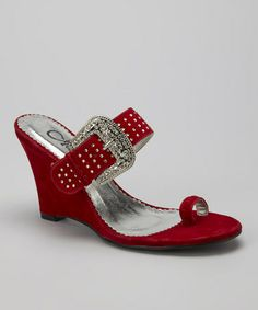 Take a look at this Red Royal Wedge by Honey Bee on #zulily today!
