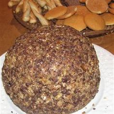 Chocolate Chip Cheese Ball - Allrecipes.com This is the BOMB! I make it for holidays, parties, or get-togethers!