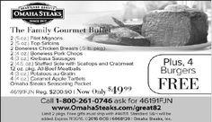 The Family Gourmet Buffet    2 (5 oz.) Filet Mignons  2 (5 oz.) Top Sirloins  2 Boneless C...   Omaha Steaks - Marietta Store - Marietta, GA #georgia #ClevelandGA #shoplocal #localGA