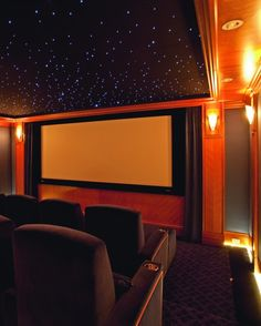 Okay, not sure if I want a media/home theater room but if I do have one I want this ceiling! Soo cool!!