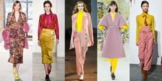 It's not often that designers inject such bright colors into their fall collections, but this season a few brands really went for it. The interesting color combination is a welcome contrast to the darker hues we regularly see during the cold weather months. As seen at Sies Marjan, Brock Collection, Creatures of Comfort, Delpozo, and Ulla Johnson