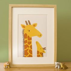 Love the special moment in this print #giraffe #nursery print! Giraffe Nursery Print