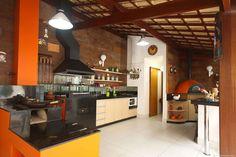 Área gourmet charmosa e perfeita para receber visitas