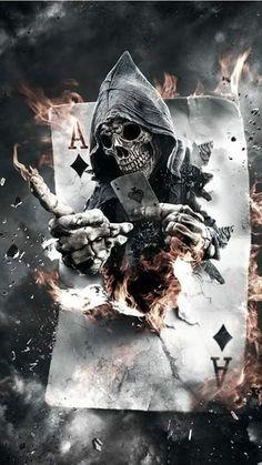 Creepy Art by Mariano Villalba Would make an awesome tattoo. Dark Fantasy Art, Fantasy Kunst, Dark Art, Skull Tattoos, Body Art Tattoos, Art Sinistre, Grim Reaper Art, Grim Reaper Tattoo, Skull Art