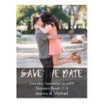 Black See ThroughTypography Save The Date Postcard #weddinginspiration #wedding #weddinginvitions #weddingideas #bride