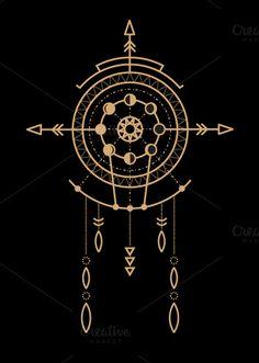 Mandala set - tribal Creative Market