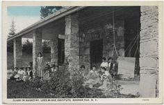 Banner Elk - Lees McRae Institute _ Class in Basketry ca.1915-1930