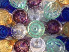 Hudson Valley Vintage Rentals, Hudson Valley Weddings . . . Rental: Vintage Mis Matched Stemmed Goblets