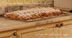 IMG_6195 Vienna Food, Apple Strudel, Butcher Block Cutting Board, Sprinkles, Banana Bread, Baking, Desserts, Tailgate Desserts, Patisserie