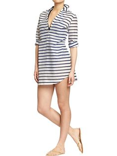 Cover-Up - Women's Striped Gauze Tunics | Old Navy