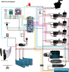 ROV Control Sketches – Fourth Edition Electronic Circuit Projects, Electronic Engineering, Diy Electronics, Electronics Projects, Arduino Programming, Linux, Spy Video Camera, Cool Room Designs, Underwater Drone