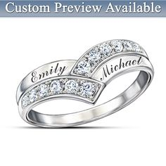 Enduring Love Personalized Diamond Ring  I want it! I want it! hmm..... but how to hint it lol