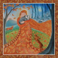 Autumn Equinox Goddess by Wendy Andrew.  Autumn Equinox - circa 21st September  Earth Mother brings the chestnut copper days of autumn,   rich with ripe fruits and nuts.  A time of gentle stillness before the harsher times ahead.
