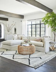 Leila Moroccan Shag Rug room designs layout living room designs room designs rustic room designs with sectional Boho Living Room, Living Room Interior, Home Interior Design, Home And Living, Living Room Rugs, White Couch Living Room, Windows In Living Room, Interior Design Inspiration, Living Room Neutral