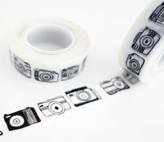 Black Cameras - Travel Journal Washi Tape.  The perfect washi tape for decorating your travel scrapbooks and journals.