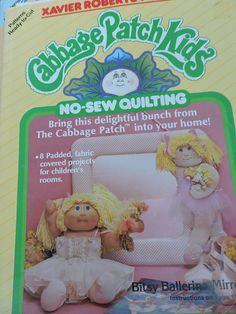 Cabbage Patch Kids Fabric Projects Balloon Girl Picture Mirror Mobile Bulletin Board No Sew Quilting Booklet # 7886 Vintage 1985 Patterns Cool Patterns, Vintage Patterns, Quilt Patterns, Cabbage Patch Kids Dolls, Baby Box, Child Doll, Fabric Covered, Balloon, Patches
