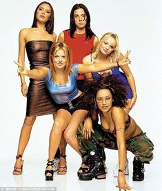 The members of the all-girl music group Spice Girls are : Victoria. Spice Girls Outfits, Emma Bunton, Star Goddess, Baby Spice, Geri Halliwell, Girls Rules, 2000s Fashion, Mode Vintage, Victoria Beckham