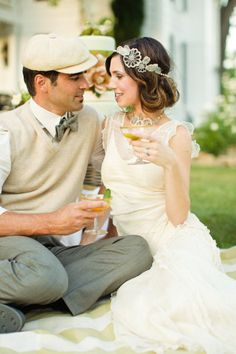 retro Jazz Age engagement photos ~ would look amazing filmed in super 8!